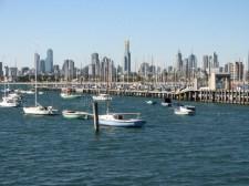 St Kilda beach - Vue sur Melbourne