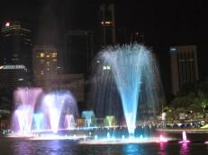 Kuala Lumpur - Centre ville - Parc des tours Petronas de nuit