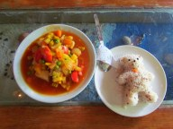 Bangkok - Ile de Rattanakosin - Restaurant, 'Sweet and sour tofu'