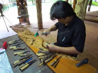 Chiang Rai environs - Black houses, sculptures