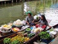 Damnuan Saduak - Marché flottant, vendeurs