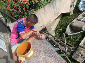 Phayao - Lac artificiel 'Kwan Phayao', pêcheur
