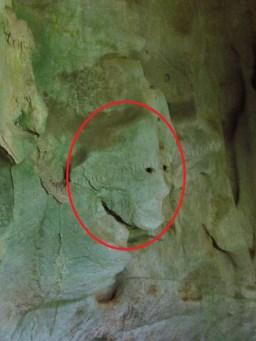 Nong Khiaw - Grotte de 'Pathok', visage de profil
