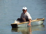Da Lat - Lac 'Ho Xuan Huong', pêcheur