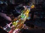 Ho Chi Minh - Réveillon de noël, vue depuis resto
