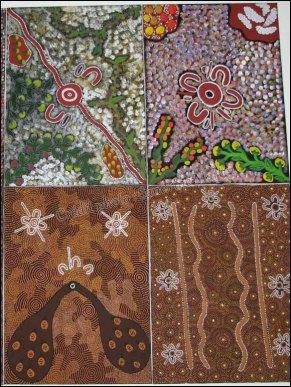 Darwin - Au hasard des rues - Dessins aborigènes