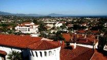 Californie - Santa Barbara - Courthouse, vue depuis le clocher