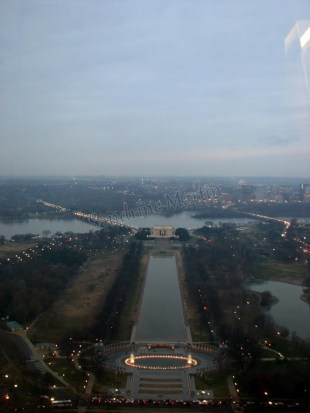 District of Colombia - Washington DC - Washington monument, vue sur le Lincoln Memorial