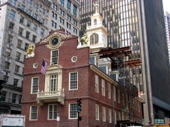 Massachusetts - Boston - Sur le chemin du Freedom Trail, old state house