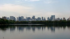New-York - Manhattan - Central Park, vue sur la villeJackie Onassis Reservoir