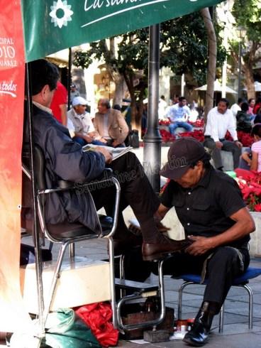 Oaxaca - Oaxaca - Zocalo - Cireur de chaussures