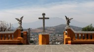 Puebla - Cholula, église 'Nuestra Señora de los Remedios', vue
