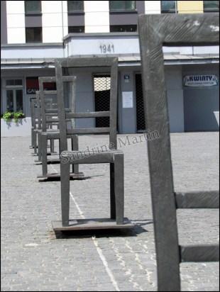 Cracovie - Kazimierz, place 'Bohaterow Getta', anciennement ghetto pour les juifs