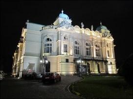 Cracovie - Théâtre 'Slowacki' de nuit