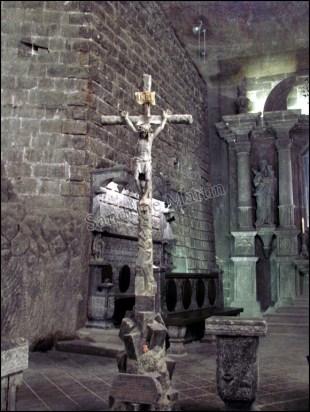 Cracovie - Wieliczka, Mine de sel, chapelle, Jesus Christ