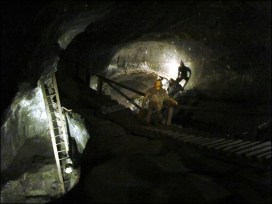 Cracovie - Wieliczka, Mine de sel, puit