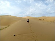 Dunes de sable 'Khongor' et moi