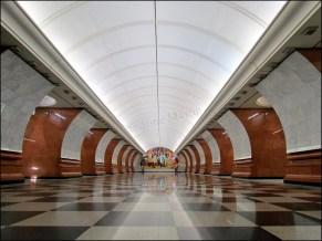 Moscou - Métro - Station Park Pobedy