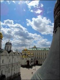 Moscou - Place rouge, Kremlin, cathédrale d'Annonciation depuis la tour d'Yvan le Grand