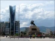 Oulan-Bator - Place Chinggis (ou Sukhbaatar)