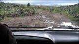 Sur la route de la source d'eau chaude 'Tsenkher', route incertaine