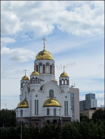 Yekaterinbourg - Eglise de Tous-les-Saints, à l'emplacement de l'assassinat du star Nicolai¨II