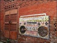 Agra - Au hasard des rues, graffitis