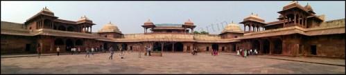 Fatehpur Sikri - Vieille ville - Palais de 'Jodhbai', panorama