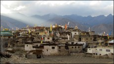 Himalaya - Vallée de Kinnaur - Nako - Vue sur le village