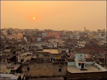 Varanasi - Coucher du soleil sur la ville