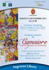 La locandina del Premio letterario Camaiore