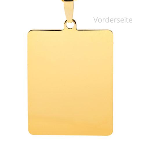 Rechteckiger Anhnger aus 585 Gold  Meta Fotogravur