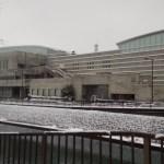 雪や雨の日は富山市総合体育館でランニング