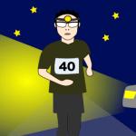 夜の帰宅ランでペース走、スピード走は車に引かれそうで危なかった。