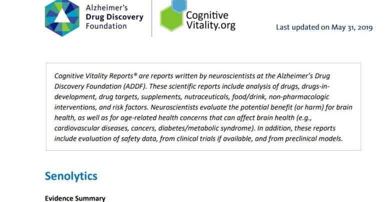 Cognitive Vitality Reports