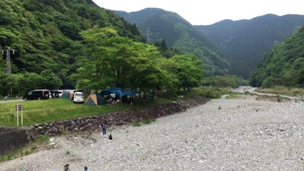 ソロキャンプ向きの佐野川キャンプ場