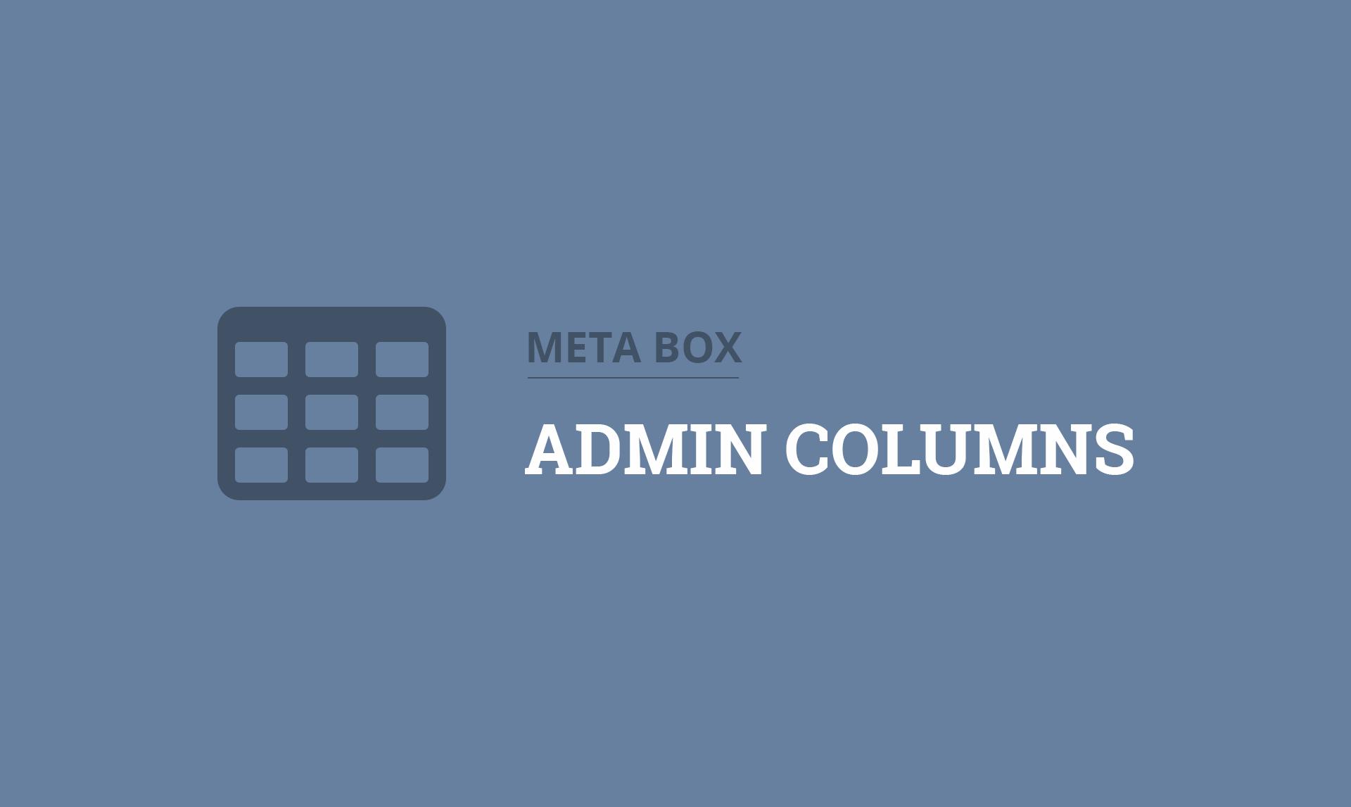 MB Admin Columns