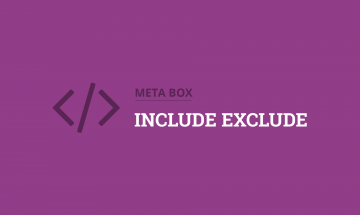 meta box include exclude
