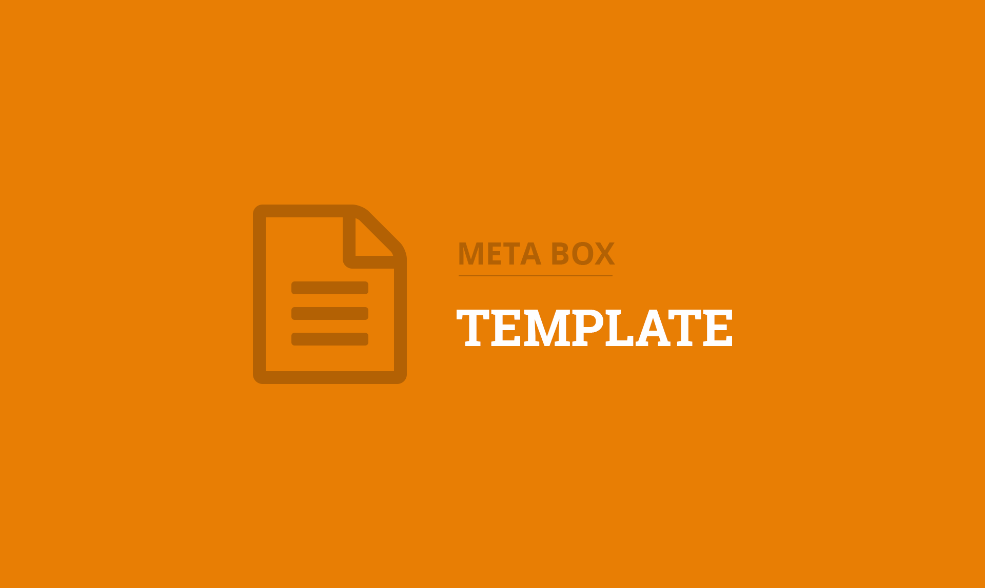 Meta Box Template