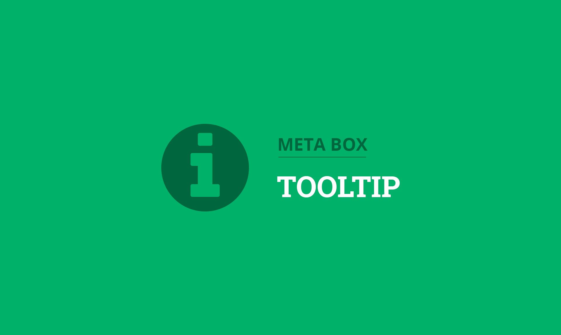 Meta Box Tooltip