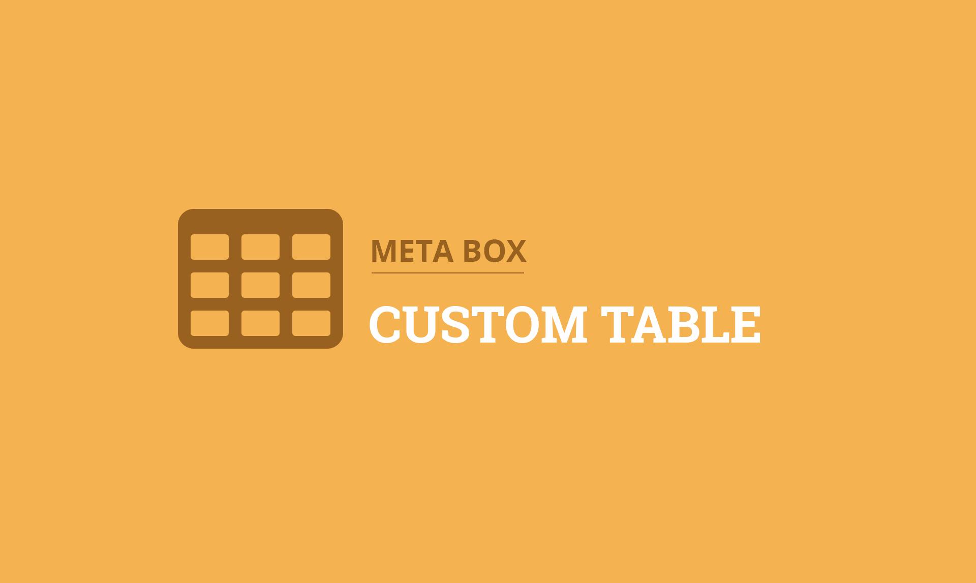MB Custom Table