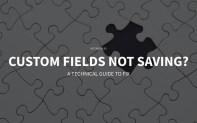 guide to fix wordpress custom fields not saving