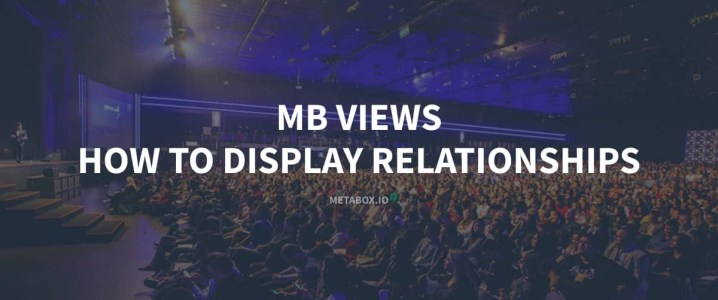 MB Views How To Display Relationships