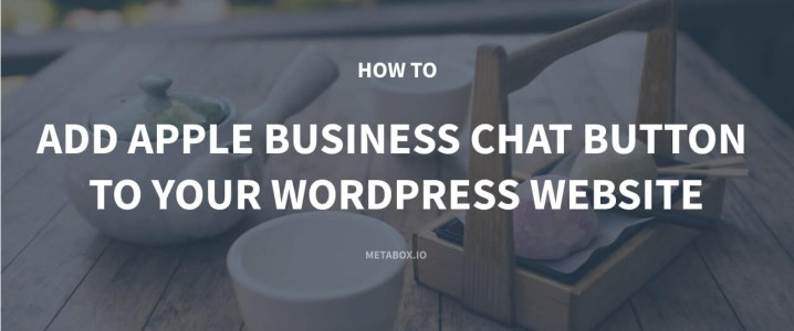 How to Add Apple Business Chat Button to Your WordPress Website