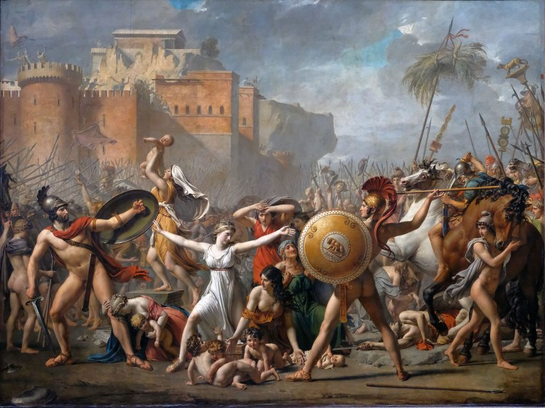 El rapto de las sabinas, Jacques-Louis David