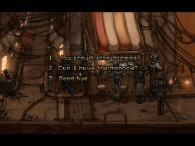 Youi encounter a lot of memorable characters during the game. Some dialogue choices have consequences.