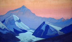 Картина Николая Рериха «Гималаи. Эверест», 1938 г.