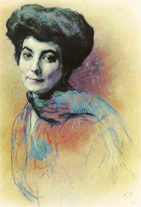 Валентин Серов - Портрет Е.И. Рерих, 1909