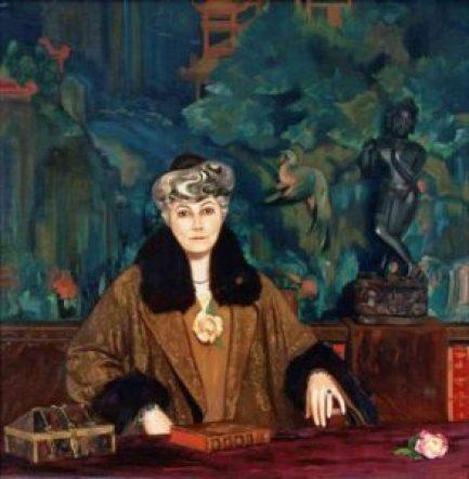 """Картина С.Н.Рериха - """"Портрет Е.И.Рерих с ларцом"""", 1937 г."""