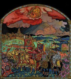 Панно Николая Рериха «Покорение Казани», 1913 или 1914